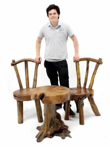 ... StallsBarsRustic Wooden Chair. 🔍. 1; 2