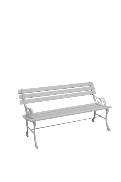 Astonishing Cast Iron Effect Bench White Event Prop Hire Pdpeps Interior Chair Design Pdpepsorg