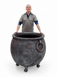 large witches cauldron event prop hire halloween cauldron prop