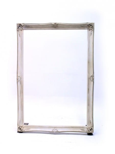 Giant Cream Frame   Event Prop Hire