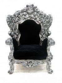 Ornate Silver Throne