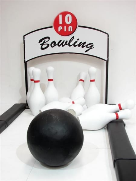Ten Pin Bowling Alley Event Prop Hire
