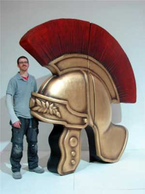 Giant Roman Helmet Event Prop Hire