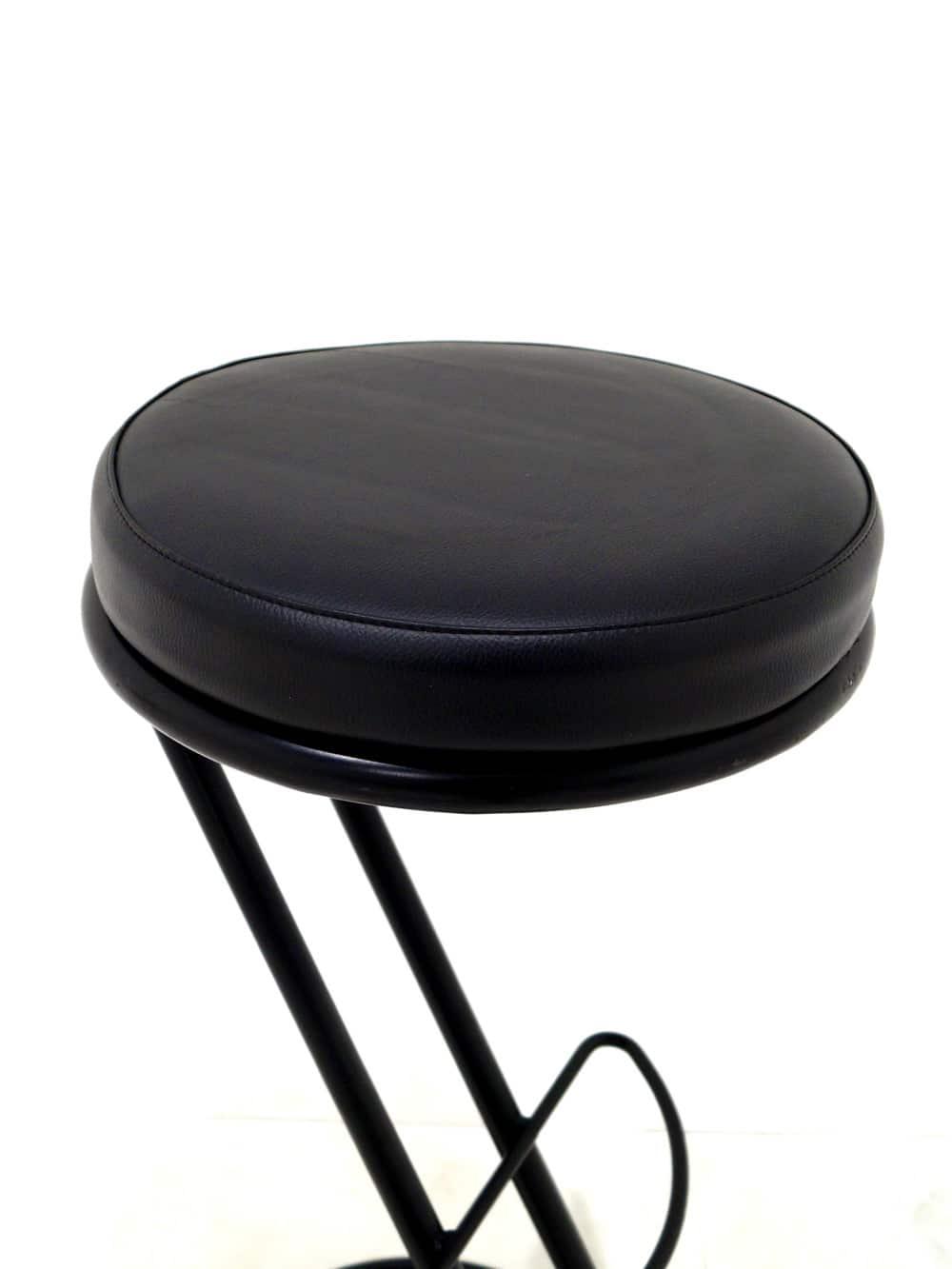 Diner Stool Black Frame Z Shape Black Event Prop Hire