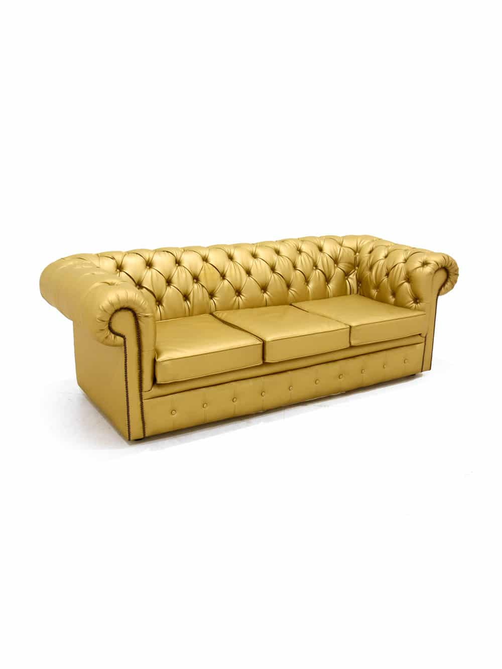 Gold Chesterfield Sofa Three Seater | Event Prop Hire