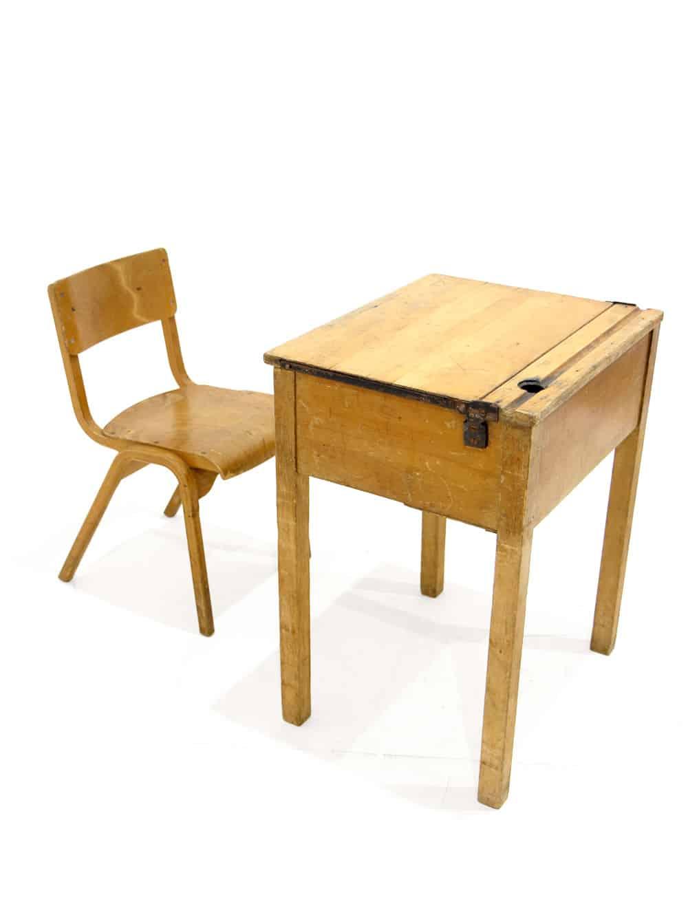 School Desk Chair Set Event Prop Hire