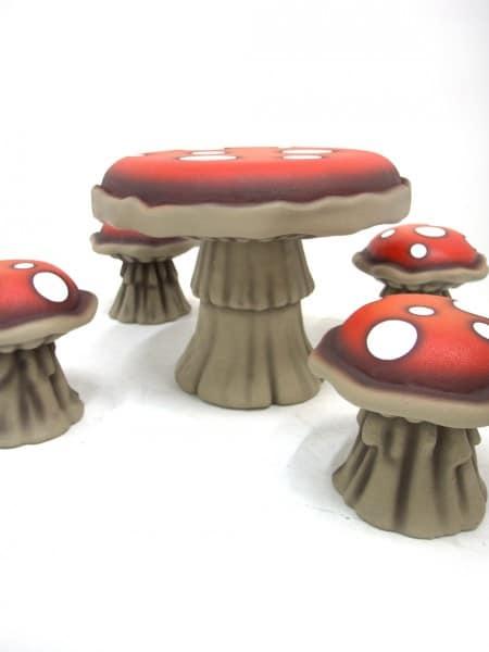 Toadstool Table & Stool Set