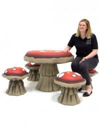 Toadstool Poseur Table | Event Prop Hire