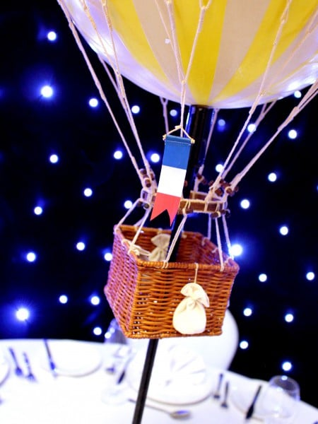 Hot Air Balloon Table Centres Event Prop Hire