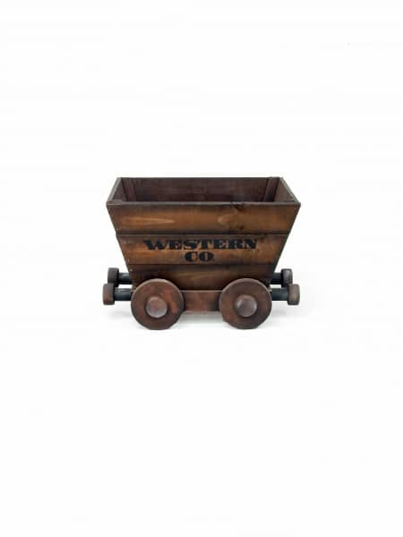 Wooden mine cart event prop hire