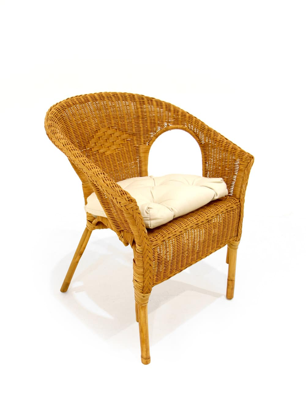 Natural Wicker Chair   Event Prop Hire