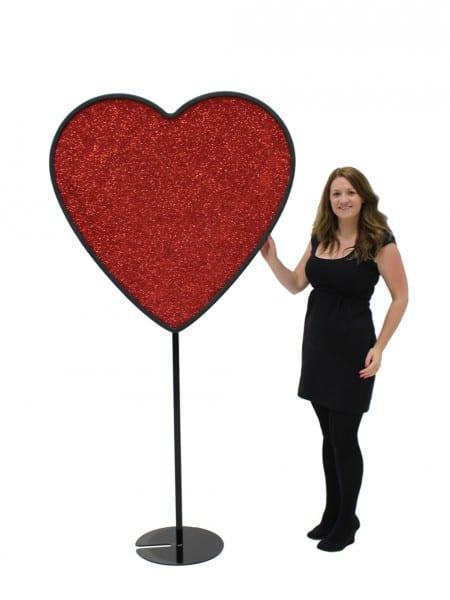 Giant Heart Motif Prop