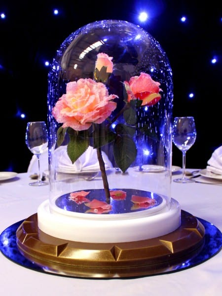 Rose In Gl Dome 1 2