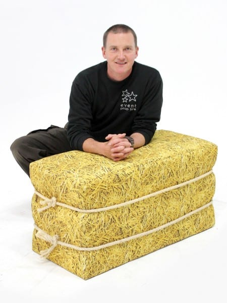 Fabric Straw Bale Event Prop Hire