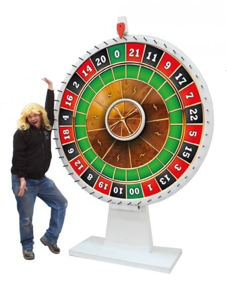 Roulette party safes with drop slots