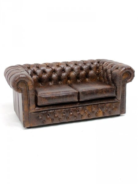 Brown Chesterfield Sofa Two Seater