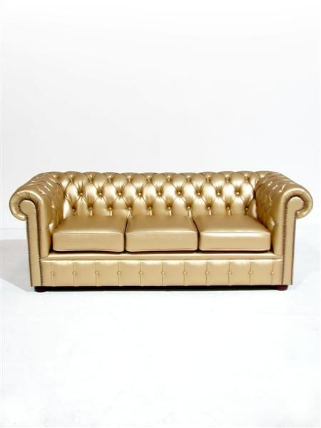 Gold Chesterfield Sofa Three Seater Event Prop Hire