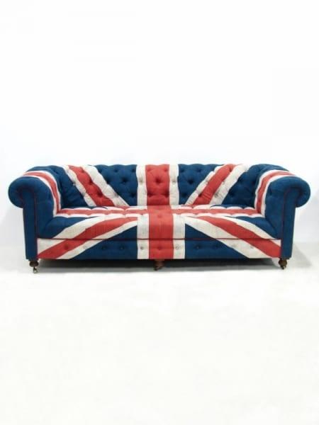 Vintage Union Jack Sofa Event Prop Hire, Union Jack Furniture