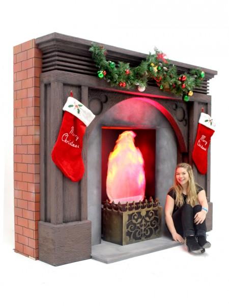 Fireplace Christmas.Giant Christmas Fireplace